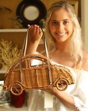 NWT Kate Spade Limited Edition Vita Riva Wicker Car Bag Natural straw vw bug