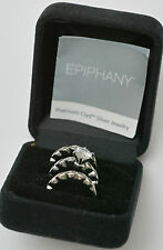 Diamonique Epiphany Platinum Clad 1.5 Ct. Wedding Set Rings