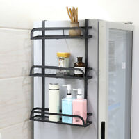 Wall Mount Refrigerator Side Hanger Storage Rack Freezer Shelf Organizer Kitchen