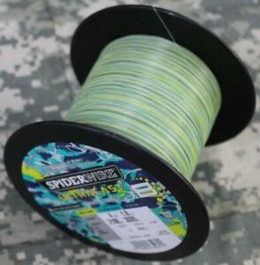 Spiderwire Ultracast x8 Braided Fish Line 4# Test 2188 Yds HiViz Aqua Camo NEW!