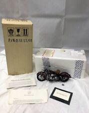 1942 Indian 442 Motorcycle Die Cast Bike Franklin Mint 1:10