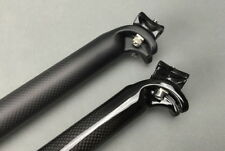 Carbon fibre Mountain Road Bike Seat Saddle post Seatpost 27.2 30.8 31.6*350 400