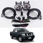 Fog / Spot Light Lamp Set Fit 05 - 14 Nissan Frontier Navara D40 UTE STX