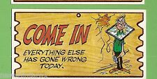 #D256. 1982 SCANLENS WACKY PLAK #13  EVERYTHING GONE WRONG