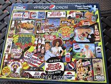 """New 1,000 Piece Lois Sutton Puzzle """"Vintage Pepsi""""  24"""" x 30"""" White Mountain"""