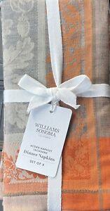 Williams-Sonoma Acorn Harvest Jacquard Napkins Set/4 In Charcoal