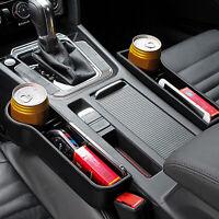 Black Car Seat Gap Slit Pockets Storage Box Organizer Caddy Phone Coins Holder