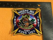 B1-96 NEW YORK FIRE DEPARTMENT PATCH - E-255 L-157 ROGERS AVE FLATBUSH JOLLYROGE