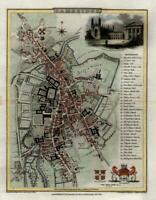Cambridge England United Kingdom Trinity College Kings College 1804 city plan