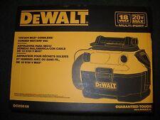 DEWALT DCV581H 18 20 Volt MAX Cordless Corded Wet-Dry Vacuum Cleaner NEW