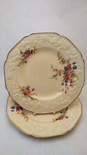 "Pair of Crown Ducal Marie Florentine Shape 8 7/8"" Luncheon Plates EXCELLENT"