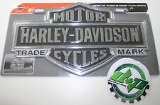 harley davidson motorcycle license plate frame flames chrome auto 3d bike tag hd