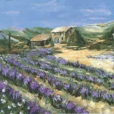 Servietten 20, Serviettentechnik Lavendelfeld Provence Lavendel, TD, 33x33