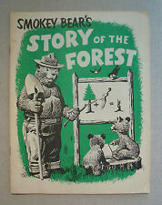 1963 Smokey Bear's Story of the Forest Activity Booklet Forestry Department