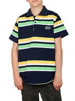Jungen Poloshirt gestreift Blockstreifen Knopf Polo Shirt T-Shirt 100% Baumwolle