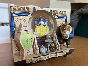 Rare Disney Beauty & The Beast Snowglobe