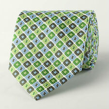 Green Luxury Woven Tie Matrix Diamond Patterned Luxury Business Matching Necktie