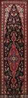 Vintage Traditional Hamedan Floral 13' Runner Rug Hand-knotted Wool Carpet 3x13