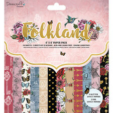 Dovecraft 8x8 Paper Pad - Folkland - Scrapbooking Cards