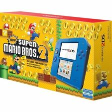 Nintendo 2DS New Super Mario Bros. 2 Bundle 4GB Handheld System Electric Blue