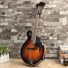 Mandolin F-Style 8 String 24 Fret Acoustic Instrument Paulownia with Case