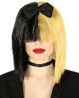 PERRUQUE blonde noire CHANTEUSE POP accessoire déguisement SIA femme NEUF