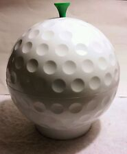 RARE VINTAGE LARGE BIG SIZE PLASTIC 10.25X9 GOLF BALL COOKIE CANDY CONTAINER JAR