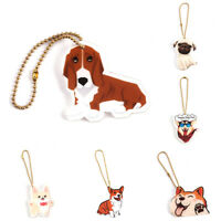 LN_ EE_ HK- Cute Dog Cow Keychain Key Holder Car Wallet Bag Decor Charm Hangin