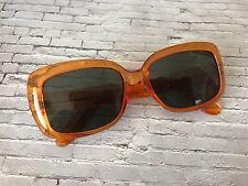 Oversize Vintage Orange & Nero Quadrato JACKY O occhiali da sole mod 60s 70s