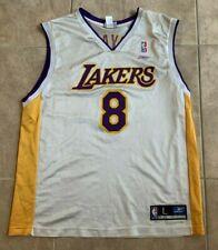 Kobe Bryant 8 Reebok White w/ Purple Yellow Adult Jersey LA Lakers L Large
