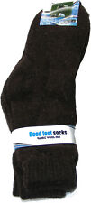 1 PAIR OF MENS BROWN THICK, CHUNKY & WARM RABBIT WOOL BLEND SOCKS SIZE: 6-11