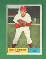 1961 TOPPS #20 ROBIN ROBERTS HALL OF FAME PHILADELPHIA PHILLIES EX+