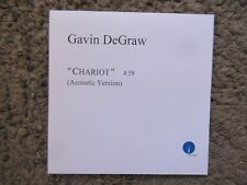 "GAVIN DeGRAW ""CHARIOT"" ACOUSTIC VER.ISLAND RECORDS-UNPLAYED PROMO CD SINGLE RARE"