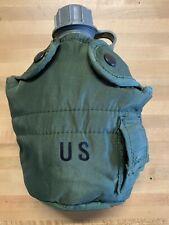 US Military 1 Quart QT Hard Plastic Canteen W/ OD Insulated Cover USGI