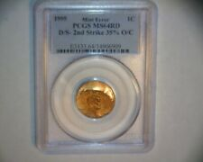 1995 LINCOLN CENT DOUBLE STRUCK ROTATED IN COLLAR >>TWO DATES<<  US ERROR COIN