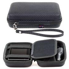 Black Hard Case For Garmin DriveAssist 50LMT-D With Accessory Storage & Strap