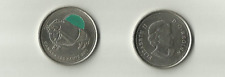 CANADA 2011 CANADIAN BISON QUARTER EMERALD COLORIZED 25 CENT COIN Circulated