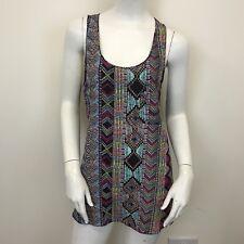 River Island Ladies Multi colour Aztec Wrestler Back Blouse Vest Top UK Size 12