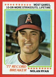 1978 Topps #6 Nolan Ryan EX/EX+ CREASE California Angels HOF FREE SHIPPING