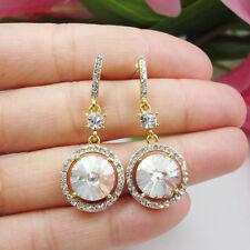 Drop Dangle Wedding Earrings Clear Fashionable Jewelry Bride Austrian Crystal