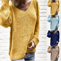 Sweater Tops Loose Women's Knitted Pullover Jumper Long Sleeve Knitwear