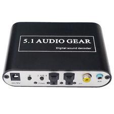 C10 Digital Audio Sound Decoder Konverter SPDIF Toslink Stereo 5.1 Stereoanlage