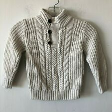 Baby Gap Fisherman's Cable Knit Sweater Pullover 1/4 Button Front 4 Yrs.