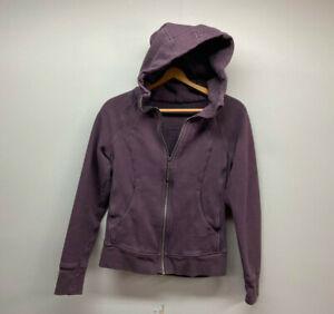 Lululemon Dark Plum Scuba Full Zip Hoodie Sweatshirt Jacket Womens Size 6 Purple