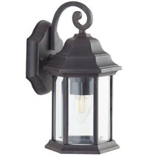 Bronze Finish 6 Sided IP44 Outdoor Exterior Wall Lantern Light