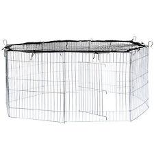 Freilaufgehege mit Schutznetz schwarz Kaninchenkäfig Kaninchen Hasen Freigehege
