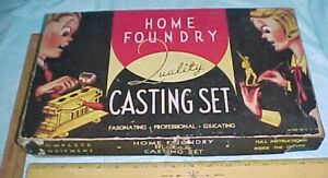 EMPTY BOX HOME FOUNDRY CAST RITE LEAD TOY SOLDIER MOLD KIT 1950 - 64 SET A-100