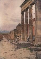 POMPEII. Entrance to the Triangular Forum. By Alberto Pisa 1910 old print