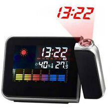 DIGITAL LCD TIME PROJECTOR ALARM CLOCK WEATHER STATION WITH THERMOMETER CALENDAR