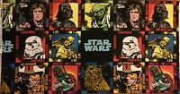 Star Wars Character Patchwork Black Cotton Quilting Fabric Panel 24""